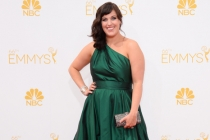 Allison Tolman of Fargo arrives at the 66th Emmys.