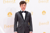 Nolan Gould of Modern Family arrives at the 66th Emmys.