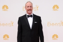 Matt Walsh of Veep arrives at the 66th Emmys.