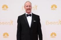 Matt Walsh of Veep arrives at the 66th Emmy Awards.