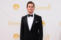 Matt Bomer of The Normal Heart arrives at the 66th Emmy Awards.