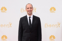 Tony Hale of Veep arrives at the 66th Emmy Awards.