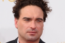 Johnny Galecki of The Big Bang Theory arrives at the 66th Emmys.