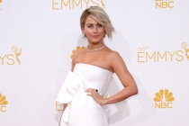 Julianne Hough arrives at the 66th Emmy Awards.