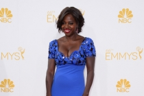 Viola Davis of How to Get Away with Murder arrives at the 66th Emmy Awards.