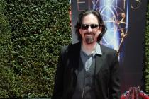 Bear McCreary arrives for the 2014 Primetime Creative Arts Emmys.