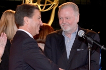 Academy Chairman & CEO Bruce Rosenblum, left, and nominee Jon Voight attend the Television Academy's 66th Emmy Awards Performance Nominee Reception at the Pacific Design Center on Saturday, Aug. 23, 2014, in West Hollywood, Calif. (Photo by Invision for t