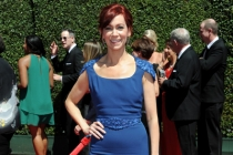 Carrie Preston of True Blood arrives for the 2014 Primetime Creative Arts Emmys.