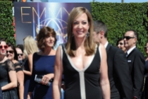 Allison Janney arrives for the 2014 Primetime Creative Arts Emmys.