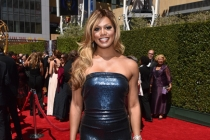 Laverne Cox or Orange is the New Black arrives for the 2014 Primetime Creative Arts Emmys.