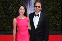 Alisa Hauser and Bob Christanson arrive for the 2014 Primetime Creative Arts Emmys.