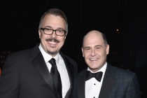 Vince Gilligan and Matthew Weiner at the 2014 Primetime Creative Arts Emmys.