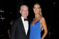 Tim Gunn and Heidi Klum of Project Runway at the 2014 Primetime Creative Arts Emmys.