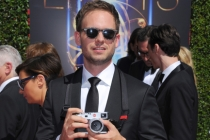 Patrick J. Adams of Suits arrives for the 2014 Primetime Creative Arts Emmys.
