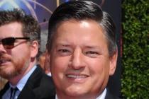 Ted Sarandos arrives for the 2014 Primetime Creative Arts Emmys.