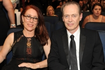 Steve Buscemi of Boardwalk Empire and his wife, Jo Andres at the 2014 Primetime Creative Arts Emmys.