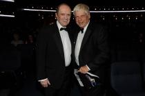 Bob Newhart and Robert Morse at the 2014 Primetime Creative Arts Emmys.