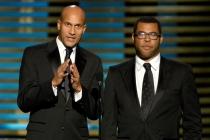 Presenters Keegan-Michael Key and Jordan Peele at the 2014 Primetime Creative Arts Emmys.
