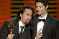 Lin-Manuel Miranda and Tom Kitt accept the award for outstanding original music and lyrics for their work on 67th Annual Tony Awards.