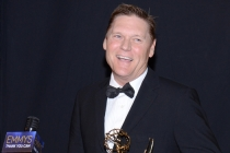 Brooklyn Nine-Nine stunt coordinator Norman Howell celebrates his win at the 2014 Primetime Creative Arts Emmys.