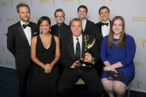 The Tonight Show Starring Jimmy Fallon digital experience team celebrates their win at the 2014 Primetime Creative Arts Emmys.