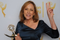 Cosmos: A SpaceTime Odyssey writer and producer Ann Druyan celebrates her win at the 2014 Primetime Creative Arts Emmys.