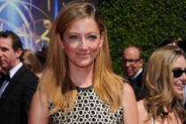 Judy Greer of Archer arrives for the 2014 Primetime Creative Arts Emmys.
