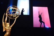 Dancers entertain the guests at the 2014 Creative Arts Emmys ball.