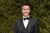 Peyton Meyer on the red carpet at the 2015 Creative Arts Emmys.