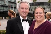 Kevin Kliesch and Amy Kliesch arrive at the Television Academy's Creative Arts Emmy Awards 2015.