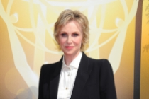 Jane Lynch on the red carpet at the 2015 Creative Arts Emmys.