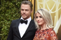 Derek Hough and Julianne Hough on the Red Carpet at the 2015 Creative Arts Emmys.