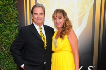 Beau Bridges and Wendy Treece Bridges on the red carpet at the 2015 Creative Arts Emmys.
