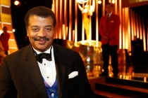 Neil deGrasse Tyson backstage at the 2015 Creative Arts Emmys.