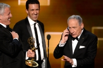 Mel Brooks and the team from A Tribute To Mel Brooks accepts their award at the 2015 Creative Arts Emmys.