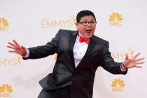 Rico Rodriguez of Modern Family arrives at the 66th Emmy Awards.