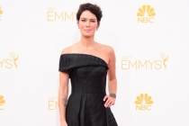 Lena Headey of Game of Thrones arrives at the 66th Emmys.