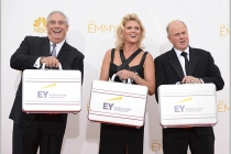 Ernst & Young representatives arrive at the 66th Emmys.