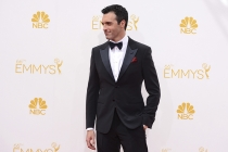 Reid Scott of Veep arrives at the 66th Emmy Awards.