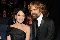 Lena Headey and Peter Dinklage of Game of Thrones at the 66th Emmy Awards.