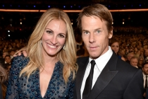 Julia Roberts of The Normal Heart and her husband Daniel Moder at the 66th Emmys.