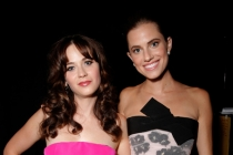 Zooey Deschanel of New Girl and Allison Williams Girls at the 66th Emmy Awards.