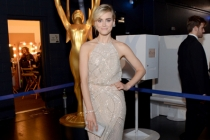 Taylor Schilling of Orange is the New Black backstage at the 66th Emmys.