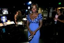 Viola Davis backstage at the 66th Emmys.