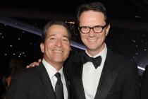 Bruce Rosenblum (l) and Peter Rice (r) at the 66th Emmys Governors Ball.