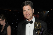 Modern Family executive producer Steven Levitan celebrates his win at the 66th Emmys Governors Ball.