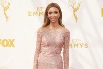Giuliana Rancic on the red carpet at the 67th Emmy Awards.