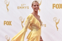 Heidi Klum on the red carpet at the 67th Emmy Awards.