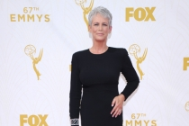Jamie Lee Curtis on the red carpet at the 67th Emmy Awards.
