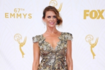Amy Landecker on the red carpet at the 67th Emmy Awards.